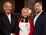 Masterchef contestant Alice with John and Gregg
