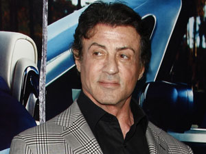 Sylvester Stallone arriving at the Los Angeles HBO premiere of &#39;His Way&#39;