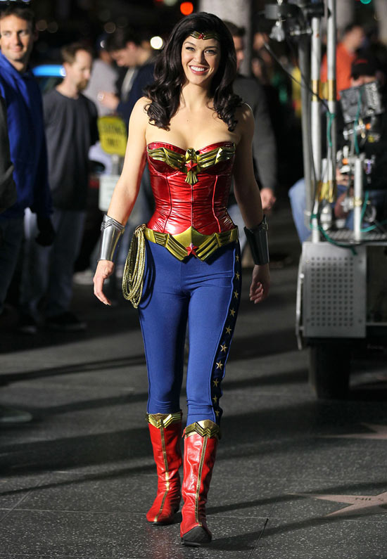 Wonder Woman pilot filming