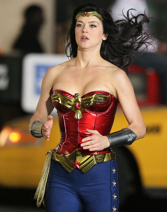 Wonder Woman...doing the robot?