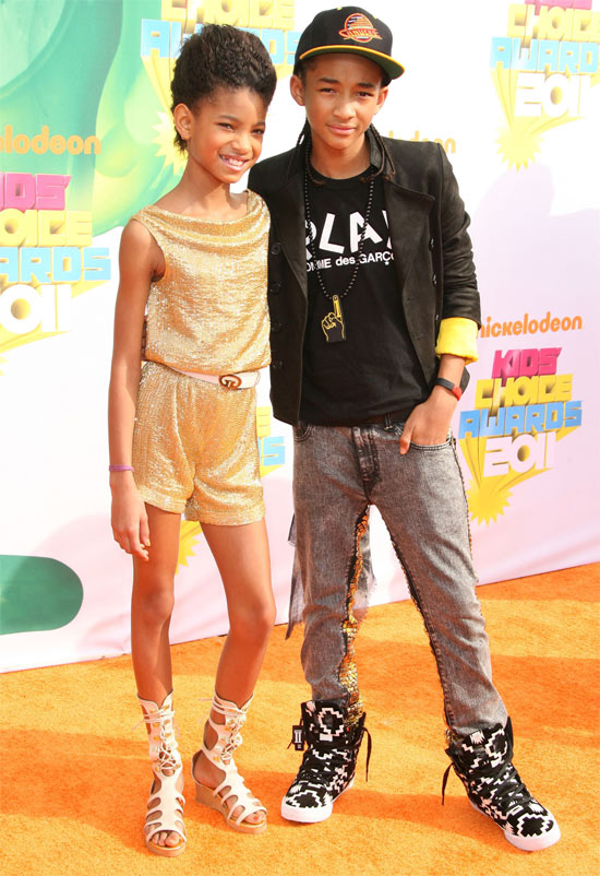 Willow and Jaden Smith at Nickelodeon's 2011 Kids Choice Awards held in California