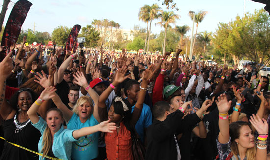 The crowd at the X Factor Miami Auditions