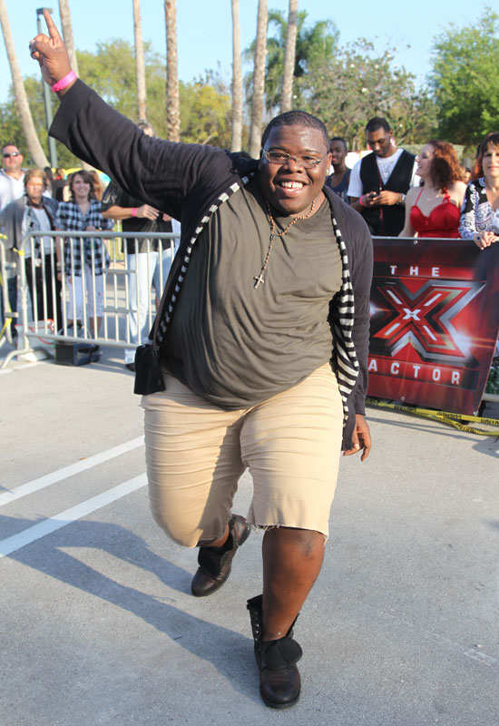 Lavell dancing at the X Factor Miami Auditions