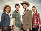 The Doctor, Amy, Rory and River Song in Doctor Who