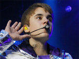 Justin Bieber performing live in concert in Berlin, Germany