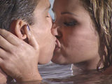 The Only Way Is Essex S02E06: Joey and Sam snogging in the pool