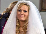 Jo Joyner in Tanya's wedding dress