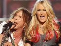 "Carrie Underwood says that her duet with Steven Tyler at the ACMs was ""crazy and fun""."