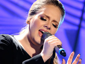 Adele performing on The Today Show