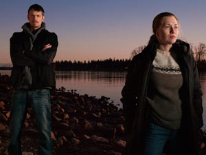 Stephen Holder and Sarah Linden from 'The Killing'