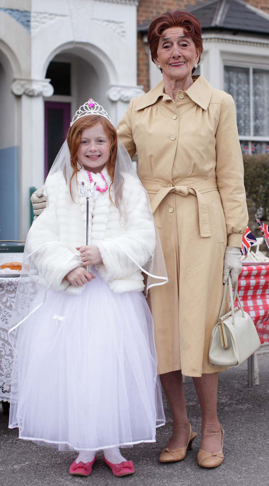 EastEnders - Tiffany Dean (Maisie Smith) and Dot Branning (June Brown)