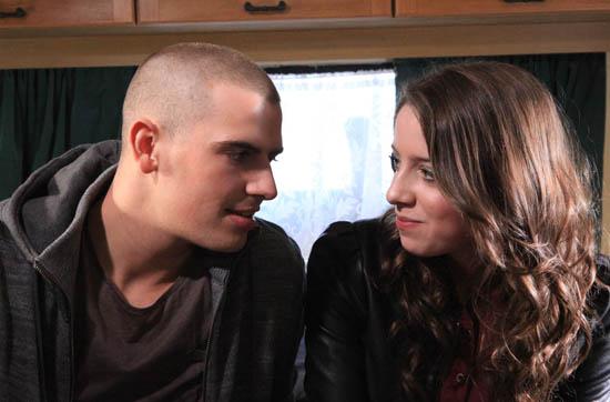 Emmerdale - Alex Moss (Kurtis Stacey) and Hannah Barton (Grace Cassidy)