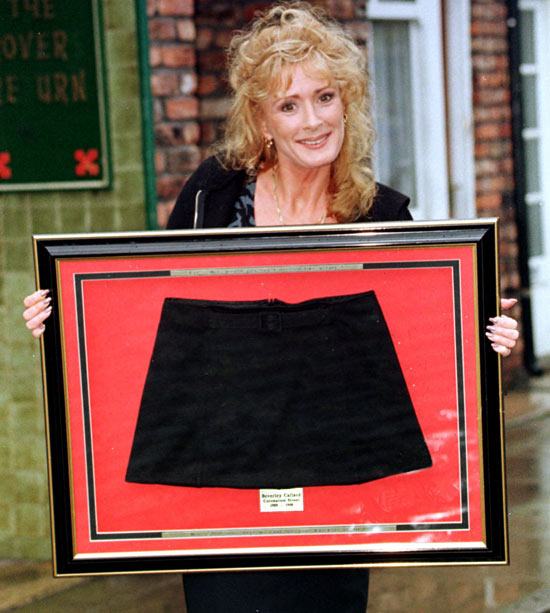 Callard with one of her trademark miniskirts