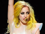 Lady Gaga performs at American Airlines Arena as part of her 'Monster Ball' tour
