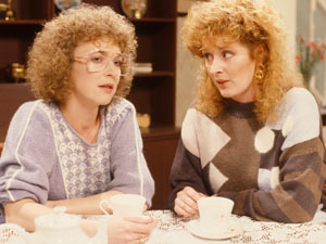 She struck up a lasting friendship with neighbour Deirdre Barlow.