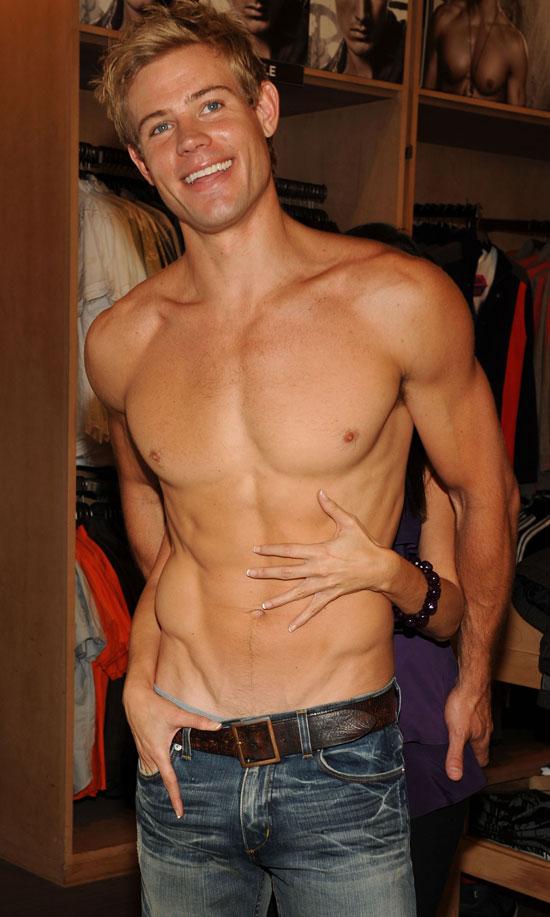 Trevor shirtless