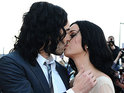 Russell Brand and his wife Katy Perry are among the stars at the UK premiere of Arthur.