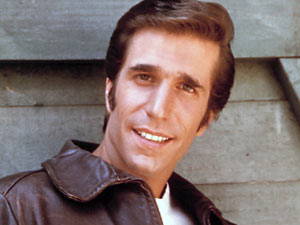 The Fonz (Henry Winkler) from 'Happy Days'