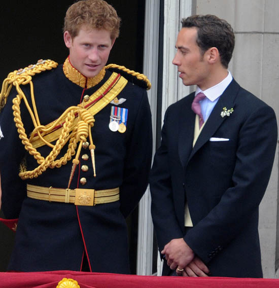 James Middleton and Prince Harry