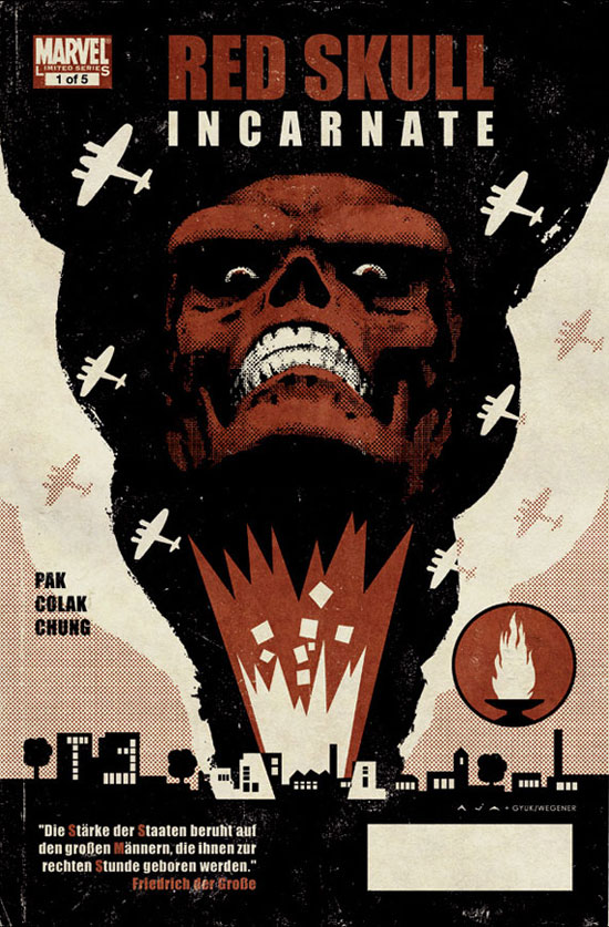 Marvel 'Red Skull' cover artwork