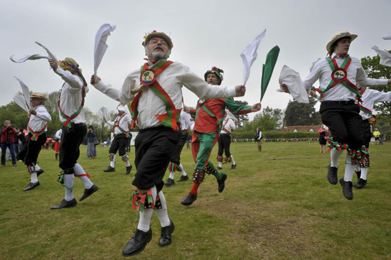 Morris Men wedding performance