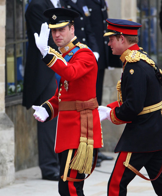 Prince William and Prince Harry arrive