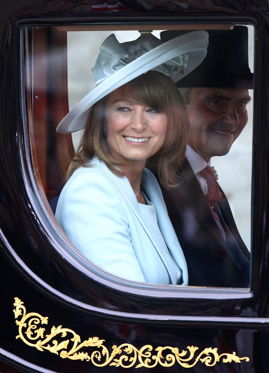 Carole Middleton carriage journey