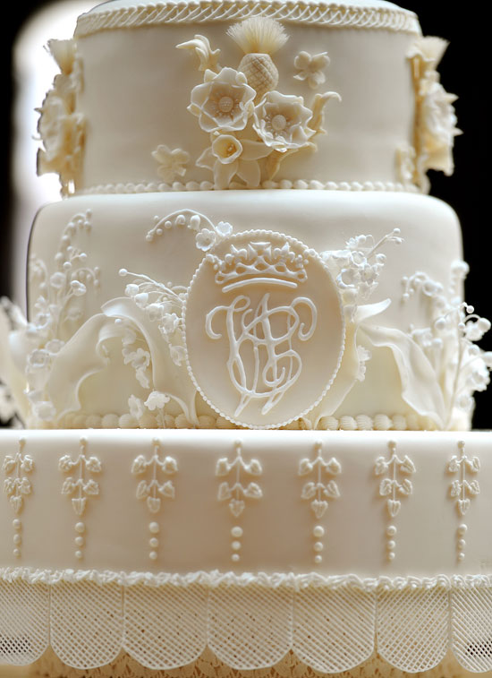 Royal cake close up