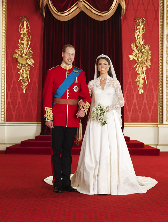 Prince William and Kate Middleton official photograph
