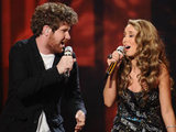 American Idol 270411: Casey Abrams and Hayley Reinhart
