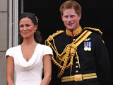 Pippa Middleton and Prince Harry appear on the balcony of Buckingham Palace