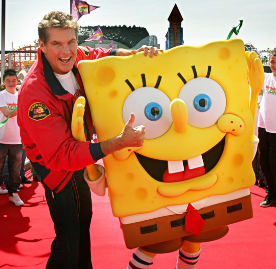 David Hasselhoff and Spongebob SquarePants