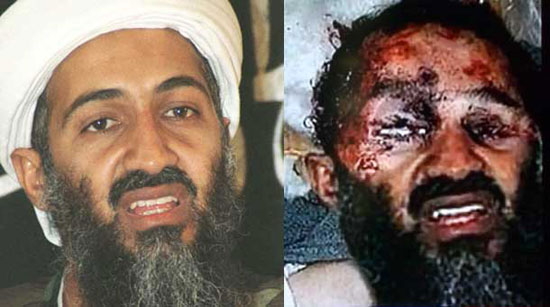 The fake image of a dead Osama Bin Laden