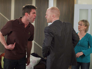 Irritated at Tanya and Greg, Max goads Jack and the pair get into a heated argument.
