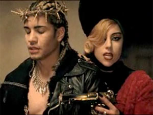 Still from the video for 'Judas'