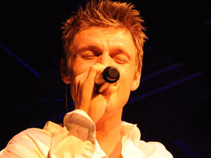 Nick Carter performing live at Fritz Club in Berlin, Germany