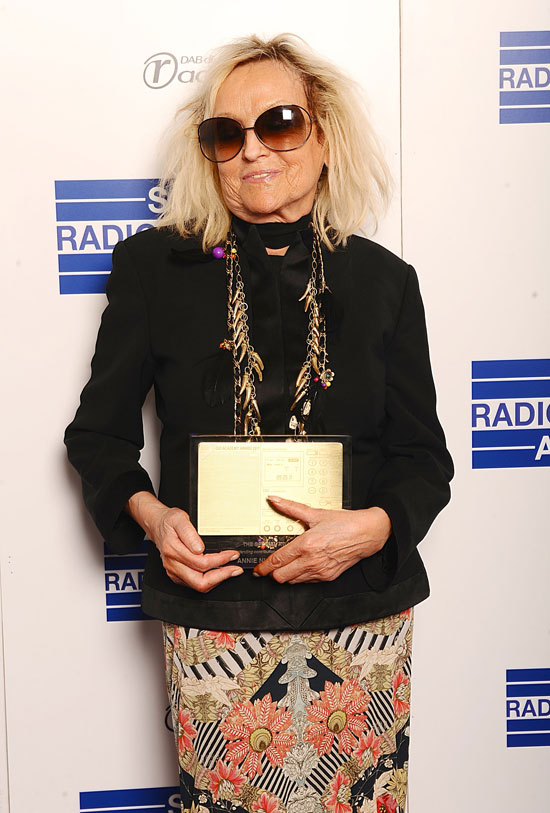 BBC Radio 1's Annie Nightingale received a Special Award from the ...