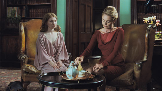 Emily Browning and Rachael Blake