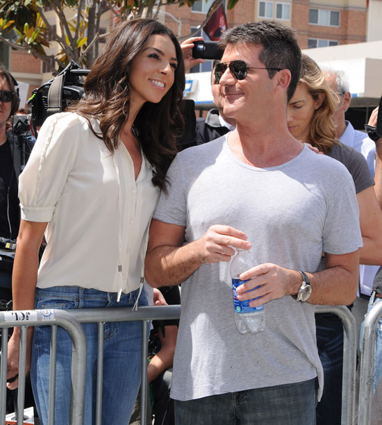 Terri Seymour and Simon Cowell