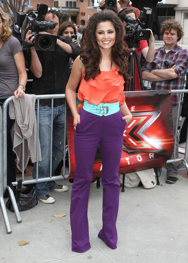 Cheryl Cole arrives at the 'X Factor' US auditions at the Galen Center in Los Angeles, California