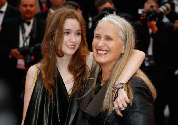 Jane Campion and Alice Englert at the 'Sleeping Beauty' Cannes premiere