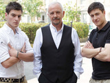 Tony Discipline (Tyler Moon), David Essex (Eddie Moon) and Matt Lapinskas (Anthony Moon)