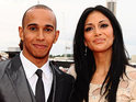 X Factor USA judge Nicole Scherzinger denies press reports that she has become engaged to Formula 1 driver Lewis Hamilton.