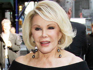 Joan Rivers outside the Ed Sullivan Theater for 'The David Letterman Show'