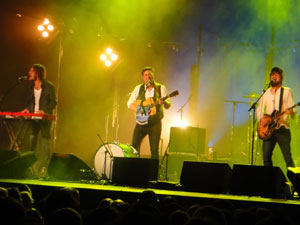 Mumford and Sons performing a charity gig at the New Wimbledon Theatre