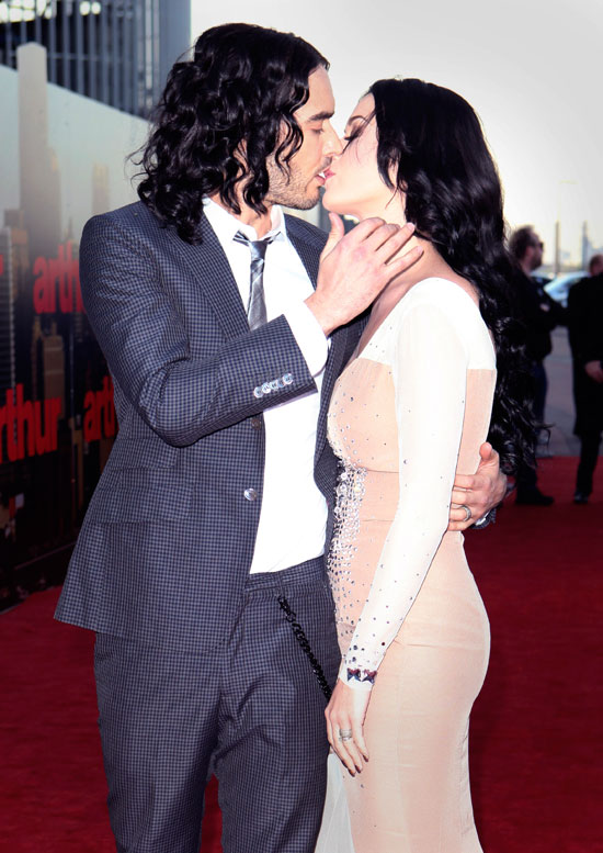 Katy Perry with her husband Russell Brand