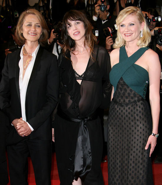 Charlotte Rampling, Charlotte Gainsbourg and Kirsten Dunst