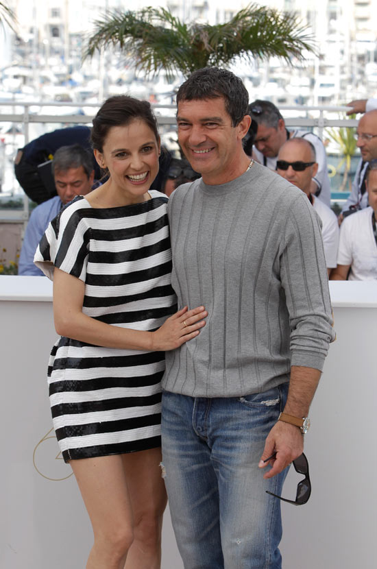 Elena Anaya and Antonio Banderas in Cannes