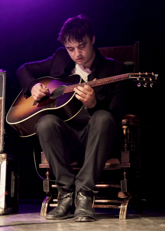 Pete Doherty performing live on stage at Liverpool O2 Academy