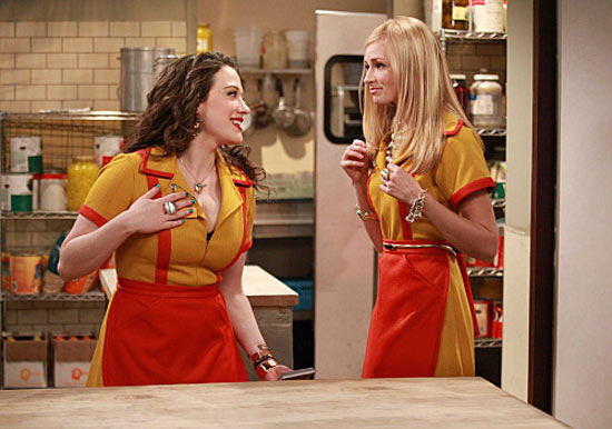 Kat Dennings and Beth Behrs in 2 Broke Girls
